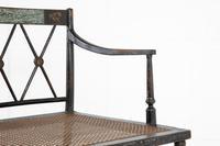 English 19th Century Regency Ebonised Cane Seat Sofa (3 of 8)