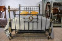 Handsome Victorian Naturally Aged Brass & Iron King Size Bed (2 of 8)