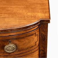 George III breakfront yew-wood inlaid mahogany sideboard (10 of 10)