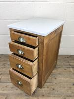 Pair of Pine Bedside Tables with Marble Tops (7 of 10)