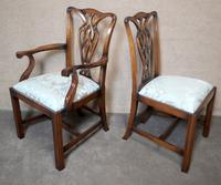 Set of Eight Mahogany Chippendale Style Chairs G.t.rackstraw - Droitwich (4 of 12)