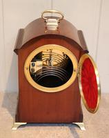 Small Mahogany & Inlay Mantel Clock (10 of 12)