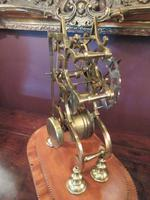 Antique Single Fusee Inlaid Skeleton Clock (4 of 10)