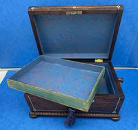 William IV Rosewood Sarcophagus Box with Inlay (10 of 13)
