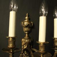 French 19th Century Pair of Bronze Antique Wall Sconces (7 of 10)