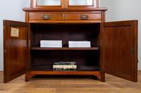 Handsome Victorian Walnut Glazed Bookcase C1890 (8 of 12)