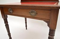 Antique Victorian Mahogany Leather Top Desk / Writing Table (8 of 13)