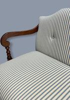 Regency Occasional Sofa with Footstool (9 of 9)