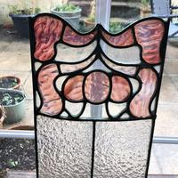 Antique Stained Glass Panel with Pink Glass Detail (3 of 10)