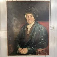 Antique Large Victorian Oil Painting Portrait of Gentleman in Smoking Jacket & Hat (2 of 10)