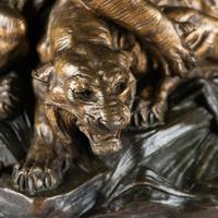 Stunning 19th Century French Bronze Sculpture of Two Tigers by E.Drouot (2 of 11)