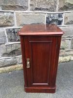 Antique Mahogany Bedside Cabinet (7 of 10)
