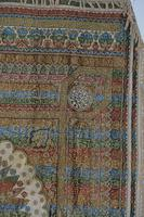 Large Vintage Middle Eastern Embroidered Silk Wall Hanging (7 of 10)