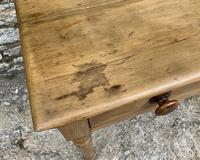 Antique Pine Side Table with Drawer (11 of 14)