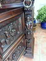 Country Oak Court Cupboard 1800 Superb Carving (4 of 12)
