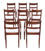 Set of 8 '6+2' Regency Mahogany Dining Chairs 19th Century c.1820 (2 of 13)