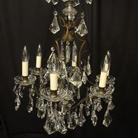 French Gilded 7 Light Antique Chandelier (7 of 10)