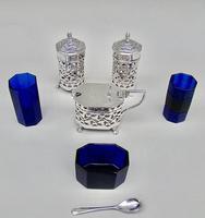 Stunning Edwardian Silver Three Piece Condiment Set by Charles Horner, Birmingham 1903 (6 of 8)