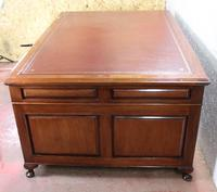 1920s Mahogany Partners Pedestal Desk with Red Top (3 of 4)