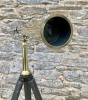 Antique Broadhurst Clarkson & Co Brass Telescope on Tripod (12 of 14)