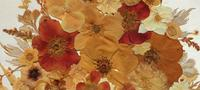 19th Century Victorian Floral Still Life of Pressed Flowers Picture (4 of 12)