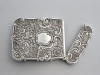 Victorian Silver Castle-top Card Case - St Luke's Church, Liverpool by Nathaniel Mills, Birmingham, 1845 (11 of 12)