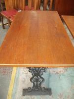 Square Pub Style Pedestal Table (2 of 3)