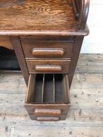 Antique Early 20th Century Oak Roll Top Desk (10 of 13)