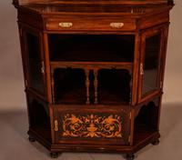 Rosewood Corner Display Cabinet by Gillows (14 of 14)
