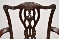 Set of 8 Antique Mahogany Chippendale Style Dining Chairs (4 of 12)