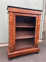 Antique Inlaid Walnut Display Cabinet (9 of 10)
