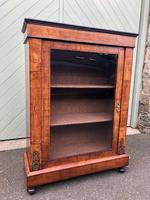 Antique Inlaid Walnut Display Cabinet (9 of 10)