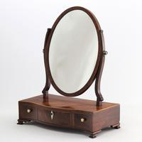 Georgian Serpentine Fronted Oval Mahogany Dressing Table Mirror c.1790