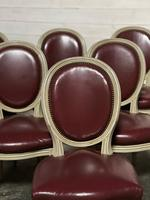 Set of 8 French Dining Chairs Lovely Original Finish (8 of 18)