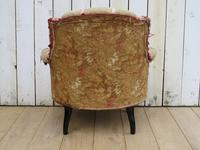Antique French Button Back Chair For Re-upholstery (6 of 8)