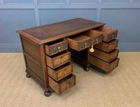 Good Carved Oak Pedestal Desk (15 of 18)