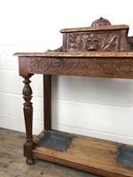 Antique Victorian Carved Oak Hall Stand (7 of 14)