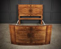 Art Deco Walnut Standard Double Bed (3 of 11)