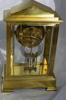 Slim French Four Glass Mantel Clock (3 of 6)