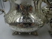 Antique Victorian Silver Tea Set London 1843 by Barnard Bros (2 of 11)