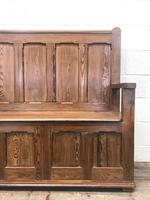 Rustic Pitch Pine Settle Bench (2 of 8)