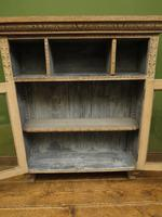 Antique Limed Oak Display Cabinet, Victorian rustic bohemian wall cabinet (3 of 16)