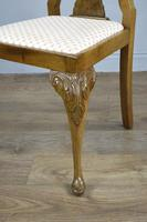 Set of Eight Walnut Queen Anne Style Dining Chairs (3 of 4)