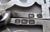 Edwardian Birmingham 1911 Hallmarked Solid Silver Nurses Belt Buckle (6 of 8)