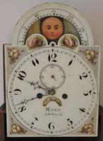 Lovely 19th Century Eight Day Mahogany Moon Rolling Longcase Clock by Mann of Norwich c.1810-1830 (2 of 10)