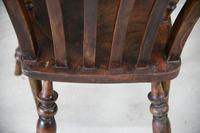 Antique Elm & Beech Lathe Back Kitchen Chair Armchair (10 of 11)