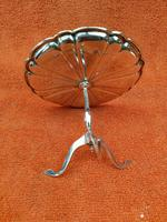 Antique Sterling Silver Hallmarked 1909 Bon Bon Dish as Table, Synyer & Beddoes (3 of 11)