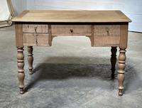 French Bleached Oak Writing Desk (3 of 21)
