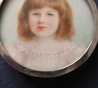 Miniature Portrait Jean Ross 1903 Edwardian Hallmarked Silver Frame Engraved (2 of 4)