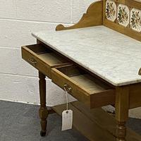 Edwardian Marble Top Washstand (4 of 6)